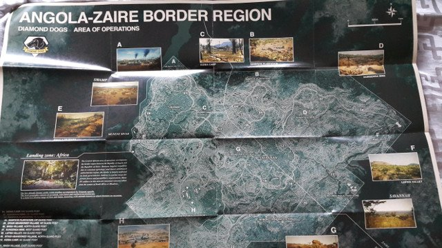 Metal Gear Solid V The Phantom Pain Full Map of AngolaZaire
