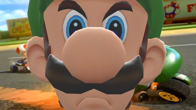Luigi S Death Stare Is Making A Comeback With Mario Kart 8