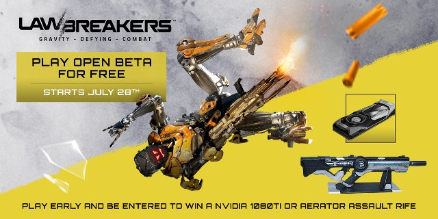 Lawbreakers Final Open Beta On PC, PS4 Begins July 28th