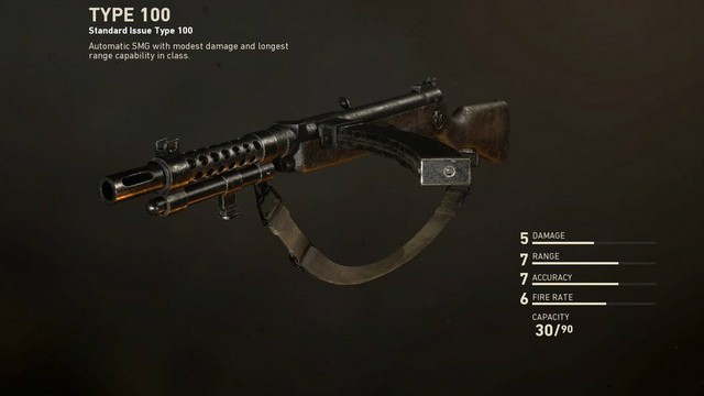 Call of Duty WW2 Type 100 SMG