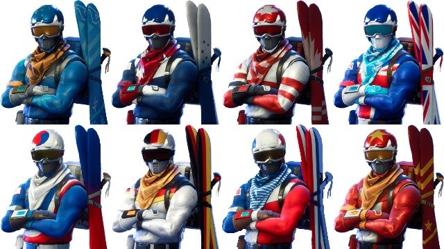 fortnite alpine ace ski skins how to get the new cosmetics in battle royale - winter fortnite skins