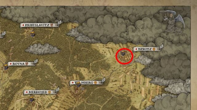 Kingdom Come Deliverance Mysterious Ways Uzhitz Map