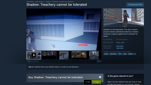 Steam is So Poorly Moderated That It's Selling an Empty Game