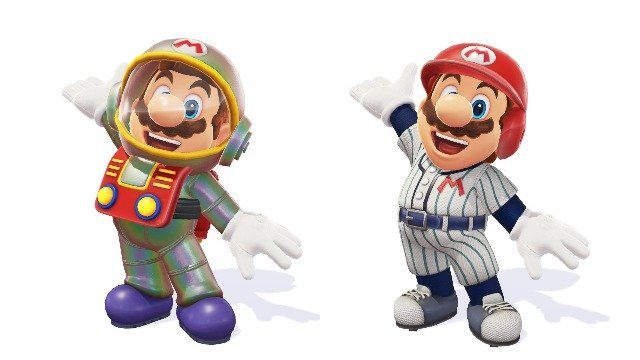 Super Mario Odyssey Baseball Uniform and Satellaview Suit