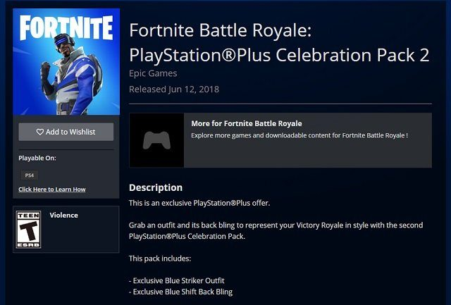 fortnite ps plus skin