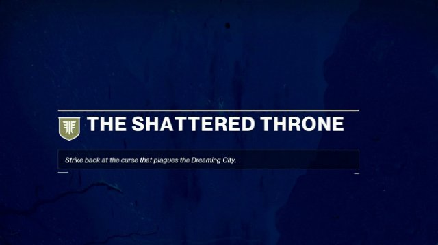 Destiny The Shattered Throne Mission Text