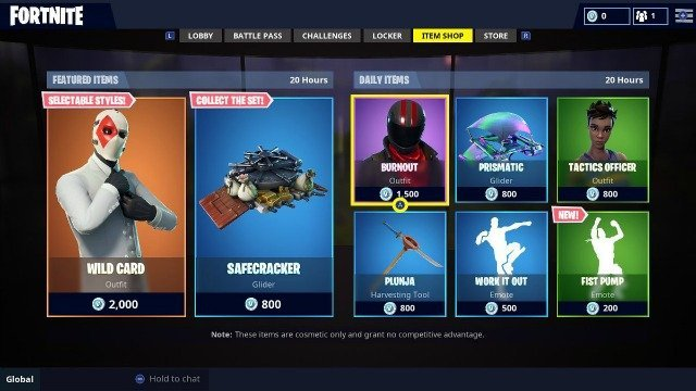Fortnite Daily Items