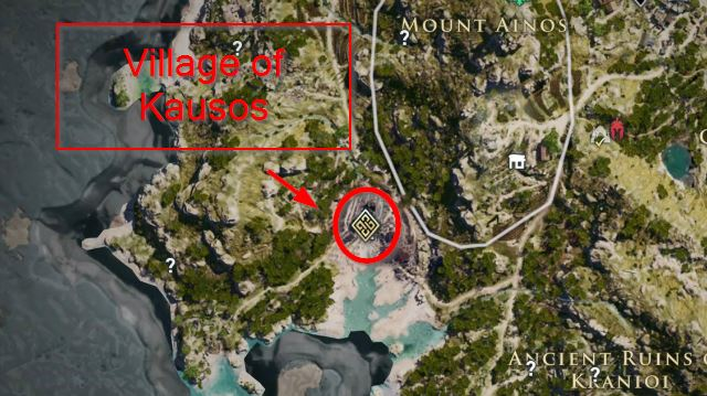 AC Odyssey Village of Kausos Map