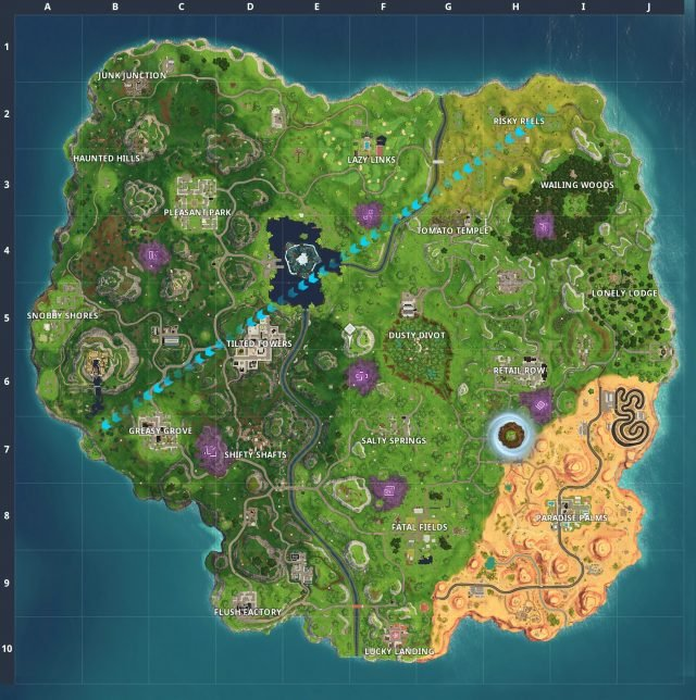 Fortnite Visit Risky Reels and Wailing Woods