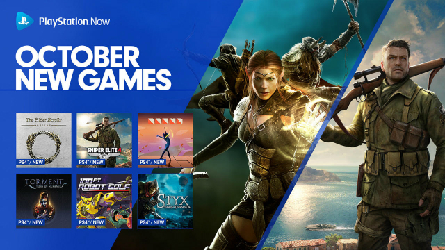 PlayStation Now October 2018