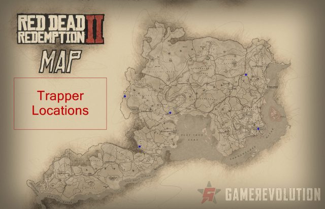 Red Dead Redemption 2 Trapper Locations