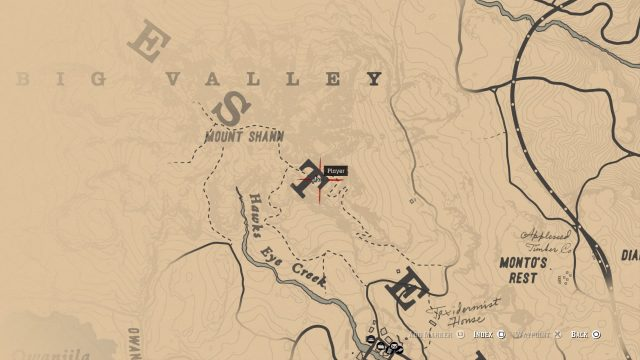 Red Dead Redemption 2 Bigfoot map