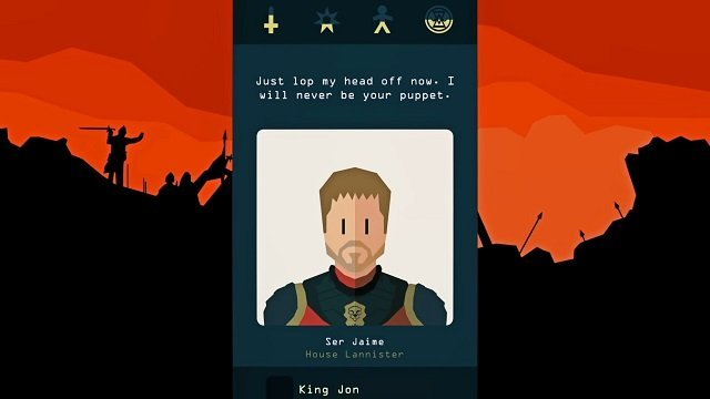 Reigns Game of Thrones Jamie Lannister Gameplay