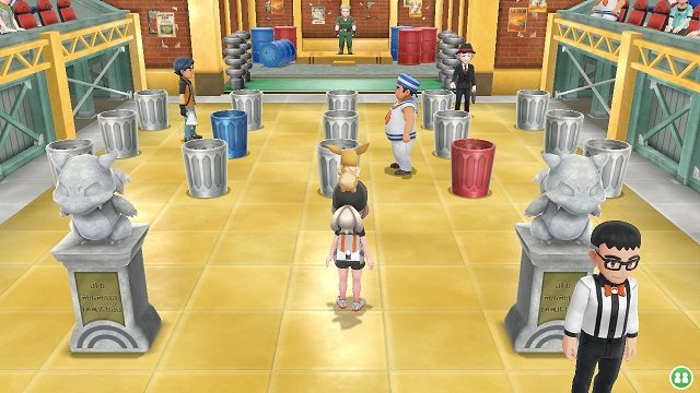 Pokemon Let's Go Gym 3 - Vermillion City vermillion gym lt surge