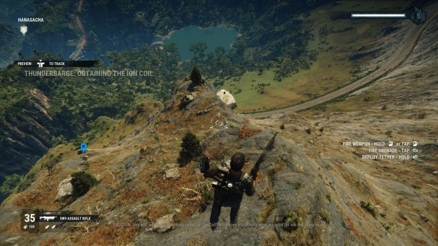 How to Play the Just Cause 4 Getting Over It Minigame mountain