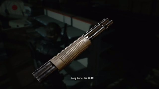 Resident Evil 2 Remake Shotgun Long Barrel Upgrade