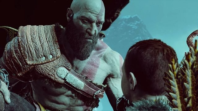 God of War Kratos and Atreus Helheim.