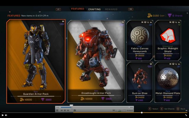 Anthem Microtranactions Screenshot