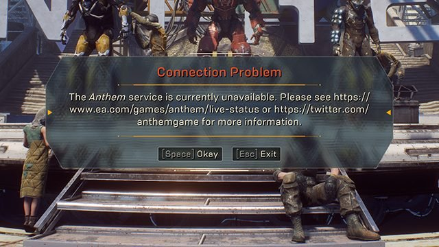 Anthem Service is Currently Unavailable