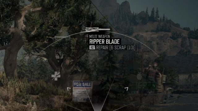 Days Gone Repair Melee Weapons Menu