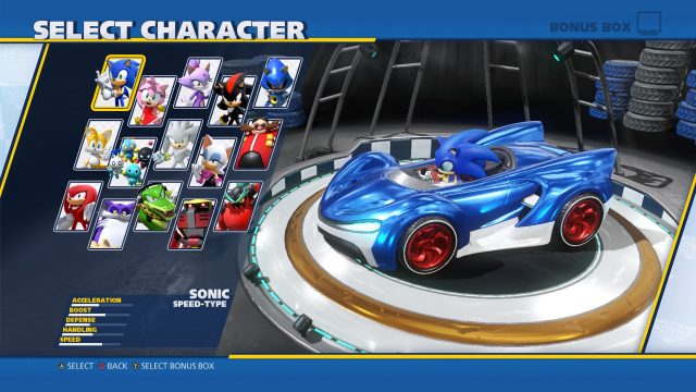 Team Sonic Racing vs Sonic All-Stars Racing roster