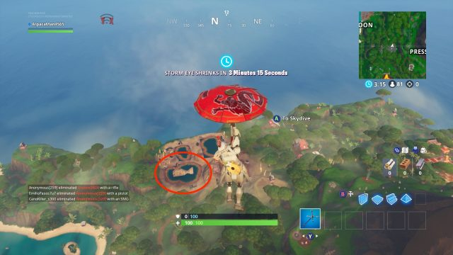 Fortnite Fortbyte 17 Inside A Wooden Fish Building Location