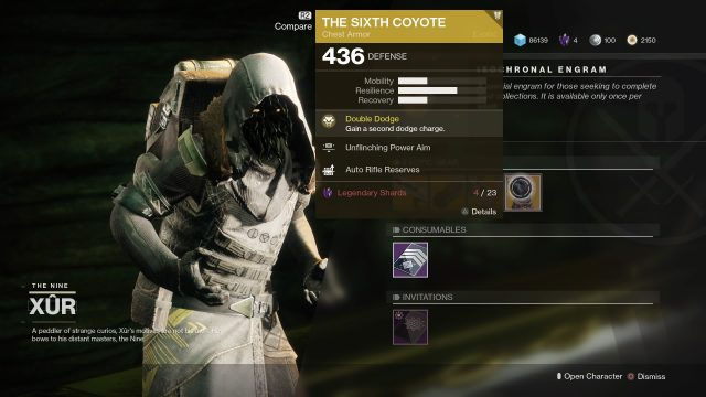 xur inventory