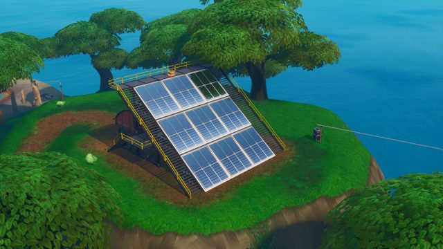 Fortnite Fortbyte 95 location solar array in the jungle