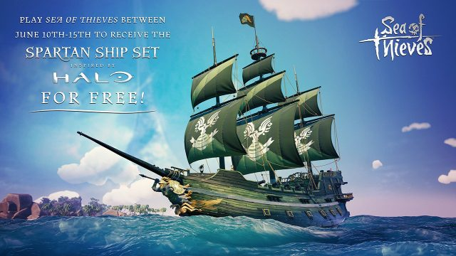 Sea of Thieves Halo Spartan ship set