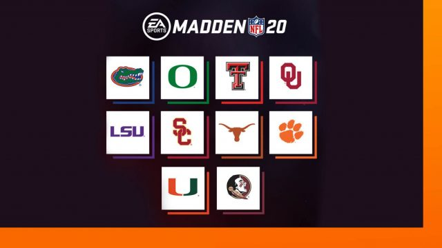 college teams in Madden 2020