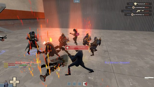 Team Fortress 2 Flaming Guitars