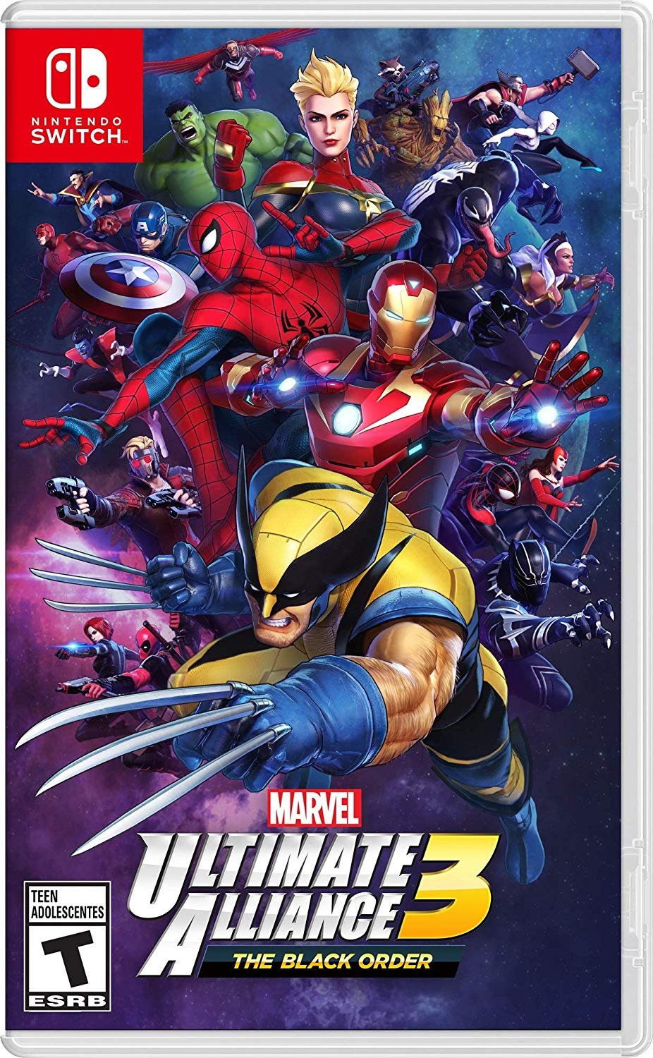 Box art - Marvel Ultimate Alliance 3