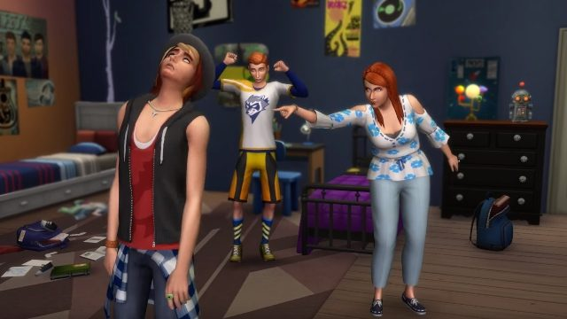 the sims 4 annoying teen