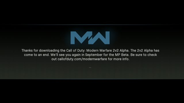 Modern Warfare Alpha Extension