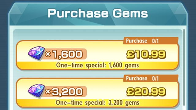 Pokemon Masters can't buy Gems error