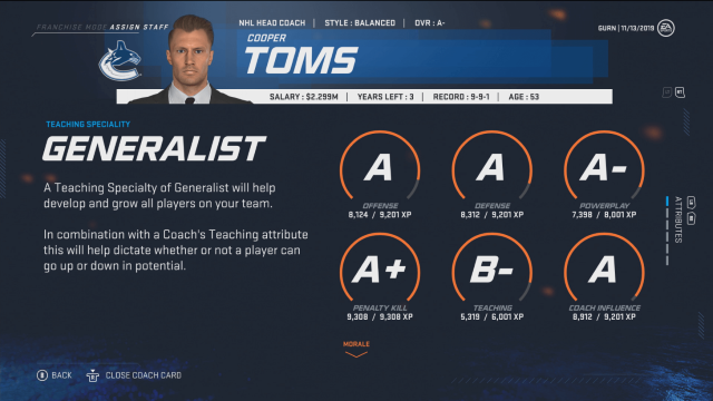 nhl 20 franchise mode