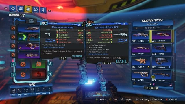 Borderlands 3 Review Inventory