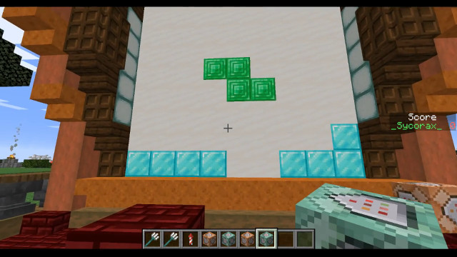Minecraft Tetris minigame created entirely with command