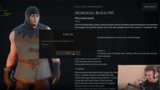 Mordhau developer kicks player