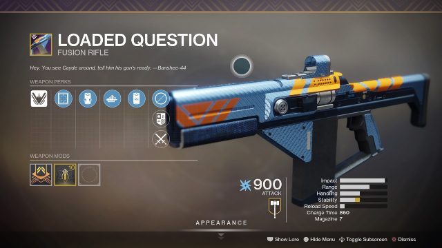 Destiny 2 loaded question perk roll