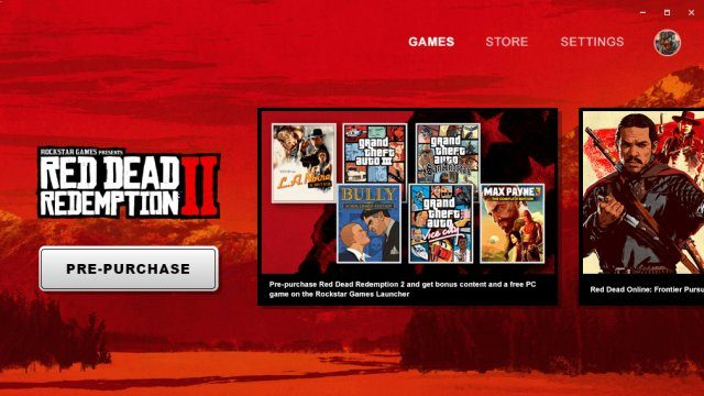 Red Dead Redemption 2 PC pre-load Rockstar Launcher
