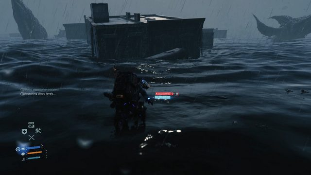 Death Stranding Crossing the Tar Belt