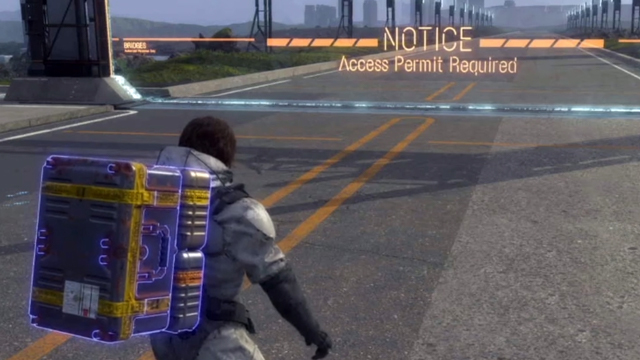 Death Stranding Notice: Access Permit Required meaning