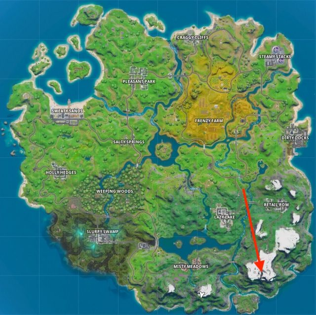 Where to summit the highest mountain in Fortnite Chapter 2