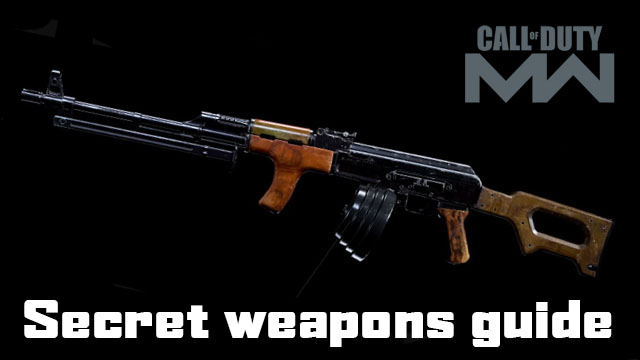 Modern Warfare secret weapons
