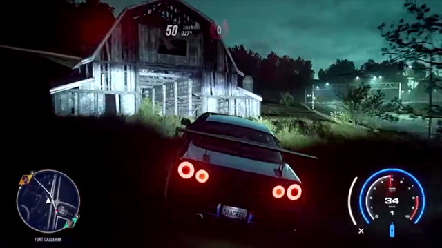 Need for Speed Heat haunted barn location