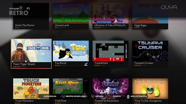 OUYA Marketplace Towerfall Tux Racer