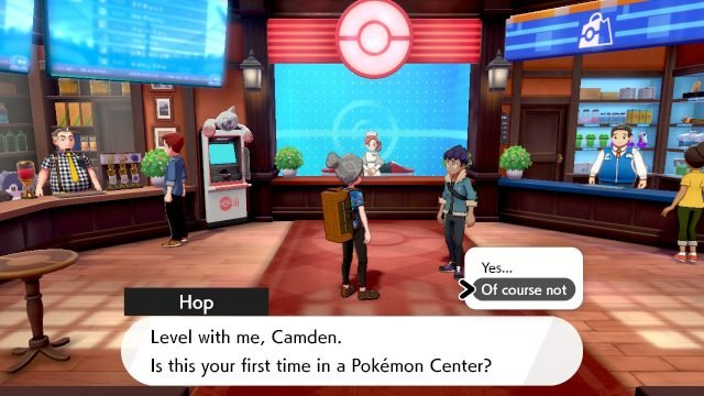 Pokemon Sword and Shield center tutorial skip