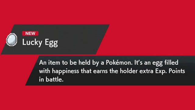 Pokemon Sword and Shield Lucky Egg
