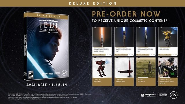 star wars jedi fallen order deluxe edition vs regular differences bonuses